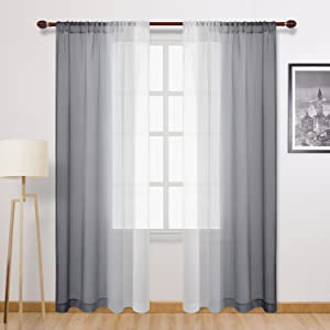 gradient sheer curtains