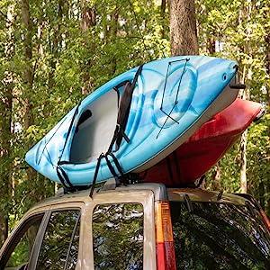 Kayak Travel, Kayak Roof Rack, kayak carrier, kayak canoe, paddeboard, surf board, surfboard