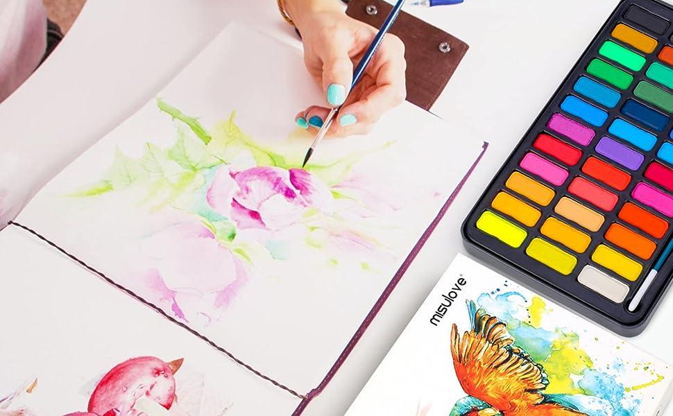 Watercolour Paint Set 36