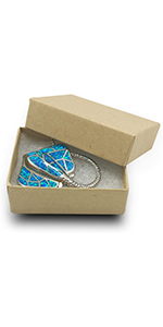 Cotton Filled Cardboard Paper Kraft Jewelry Box Gift Case