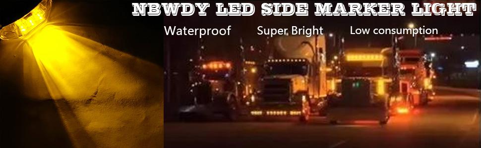 amber side marker light trailer light truck light