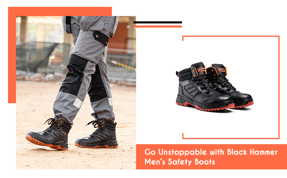 Non-metallic hiking boots Metal-free safety footwear for work sites wide fit