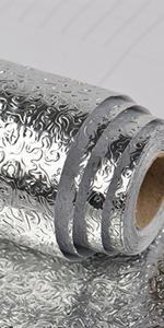 aluminum foil wallpaper