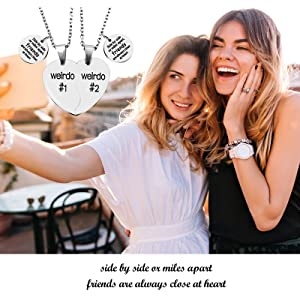 best friend heart necklaces for 2