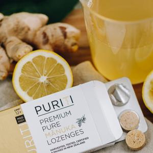 puriti genuine pure raw new zealand manuka honey umf mgo certified lozenges drops throat immune