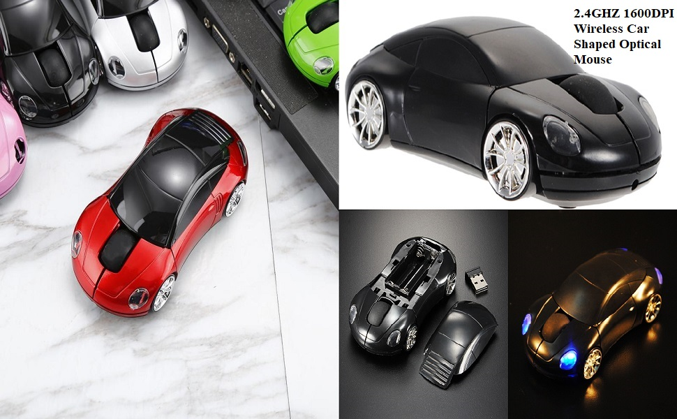 sports car shaped optical wireless mouse