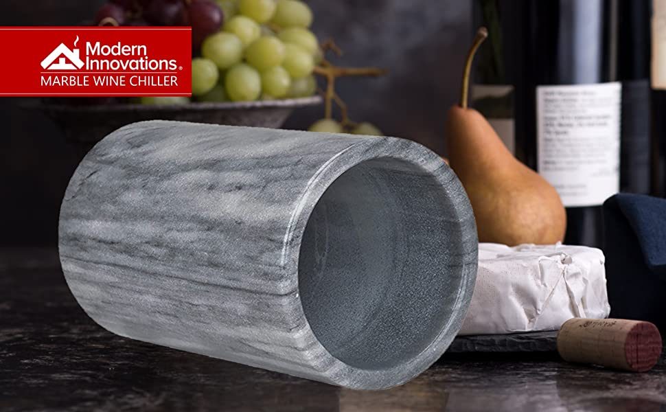 Wine Chiller Elegant Grey Marble Wine Bottle Cooler Keeps Wine and Champagne Cold with Multipurpose