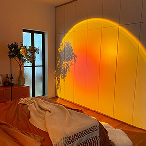 Modern floor stand night light easily creates a romantic modern bedroom