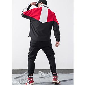 TWO WAYS TO WEAR - It can be wear on both sides, a hoodies or full zip jacket Hoodies Windbreaker