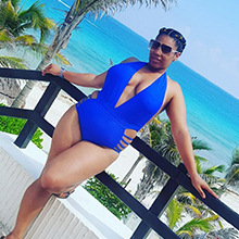 Women Sexy One Piece Swimsuits Halter Plunge V Neck Cutout Bathing Suits