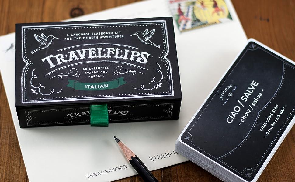 italian language study cards