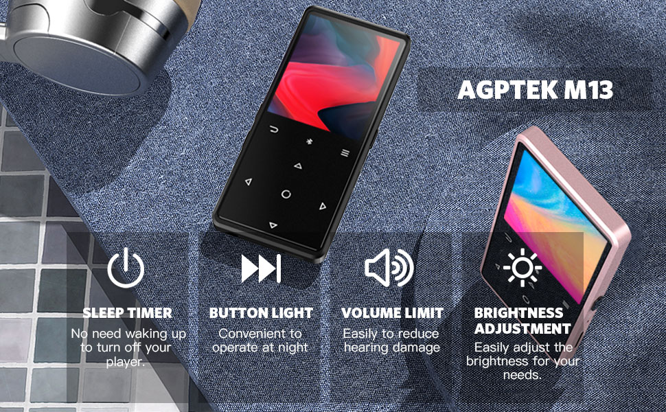 16GB MP3 Player with Bluetooth