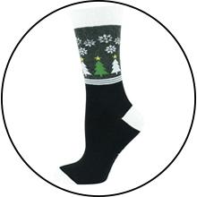 Calcetines tobilleros, calcetines de pantorrilla, calcetines de tripulación, calcetines de Navidad, calcetines festivos, calcetines de