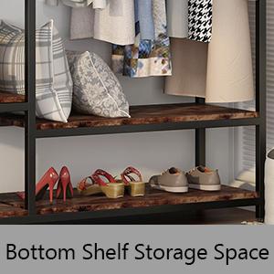 Bottom Shelf Storage Space