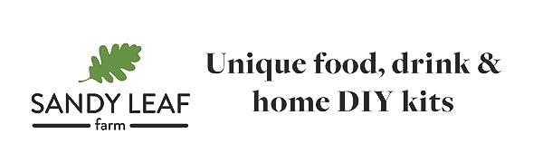 Unique food, drink amp; home DIY kits by Sandy Leaf Farm