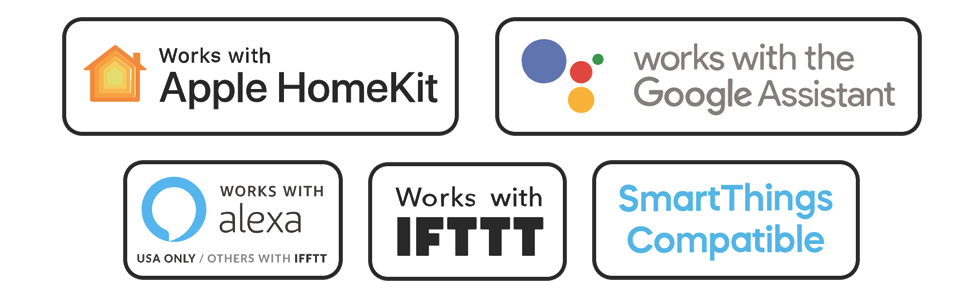 apple homekit, amazon alexa, samsung smartthings, ifttt, google home assistant, smart garage
