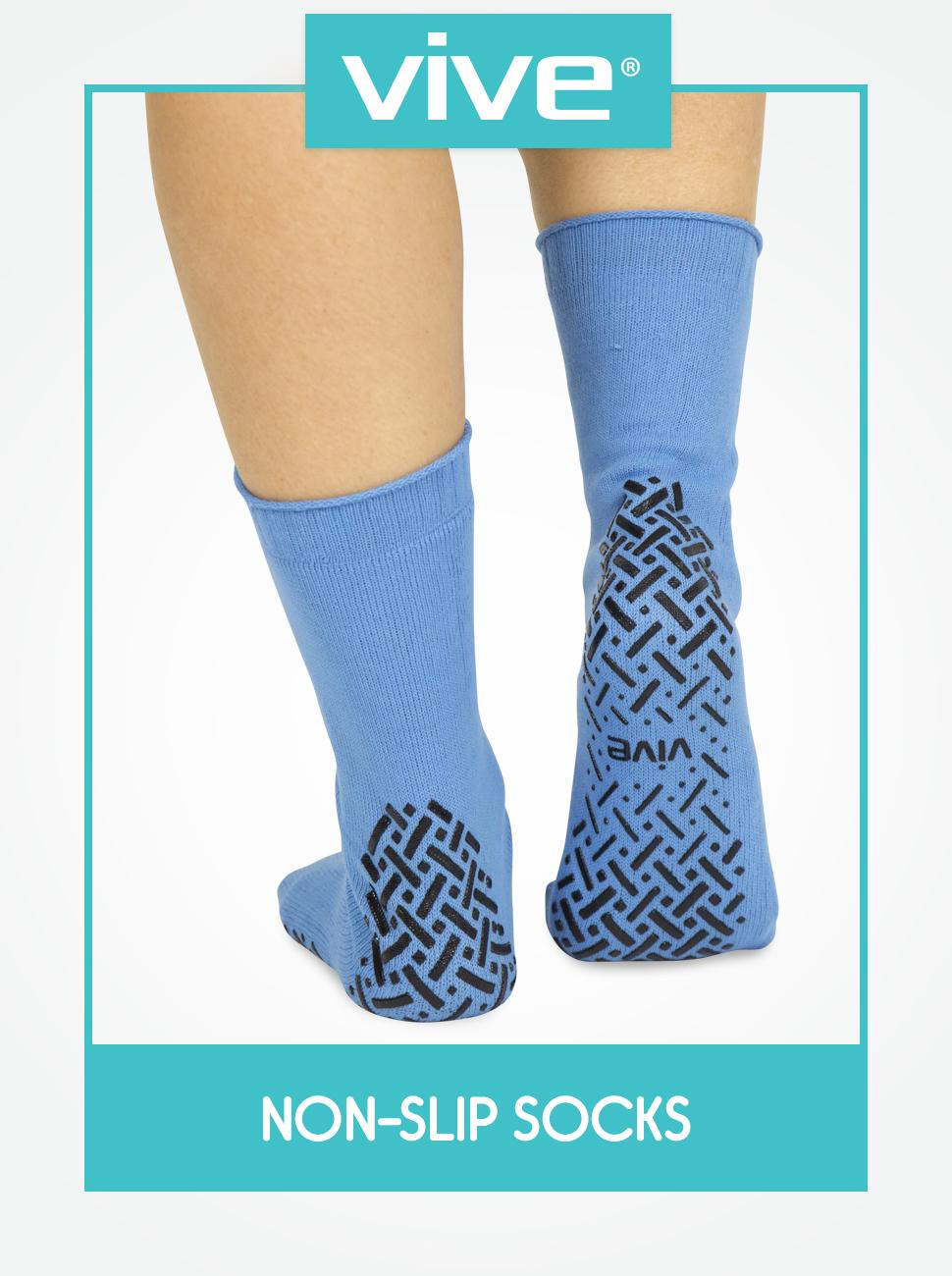 Hospital Socks Women Men Non Skid Gripper Cozy Socks 6 Pairs