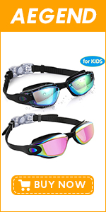 Kids Swim Goggles 2 Pack (Age 3-9)
