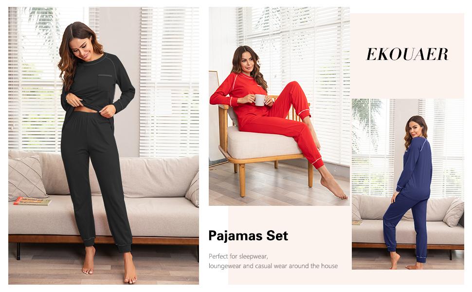 womens red pajama set
