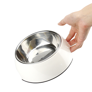 Easy to pick up double-layer dog bowl