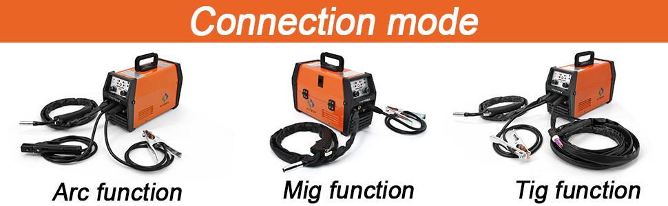 no gas mig120 with lift tig arc 3 in 1 digital inverter welding machine HITBOX