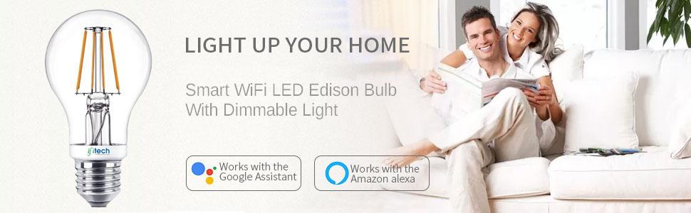 ifitech smart bulb, home automation bulb, Edison bulb, Dimmable bulb, wifi bulb