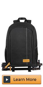 camera backpack black