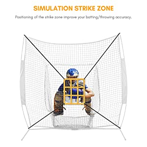 softball net with target zone