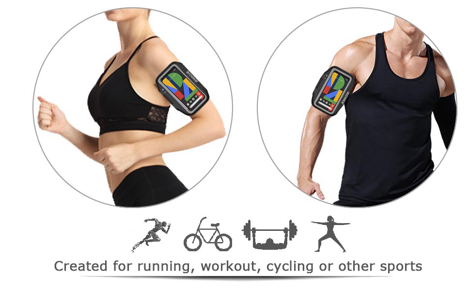 Gym Running/Exercise/Workouts Arm Band Case for Google Pixel 3a/3/2/1 XL
