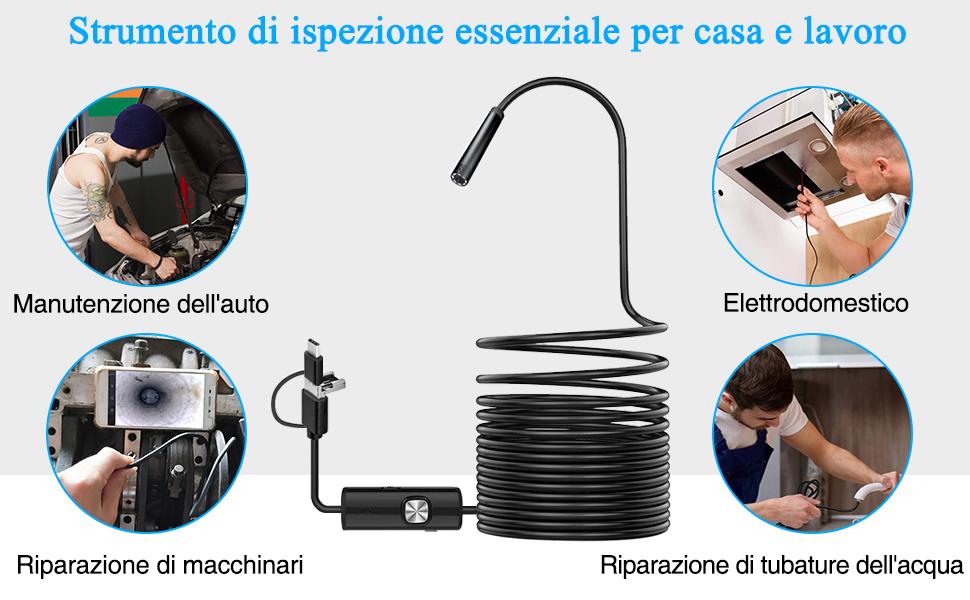 PiAEK Specchietto Impermeabile per WiFi Endoscopio per Endoskopkamera Mirro Accessori