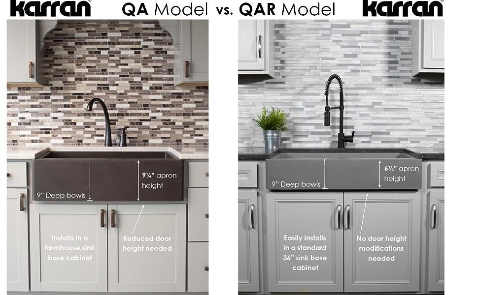 Karran - Apron Front / Farmhouse Quartz Series