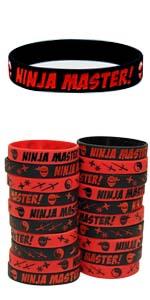 gypsy jades ninja party supplies silicone wristbands