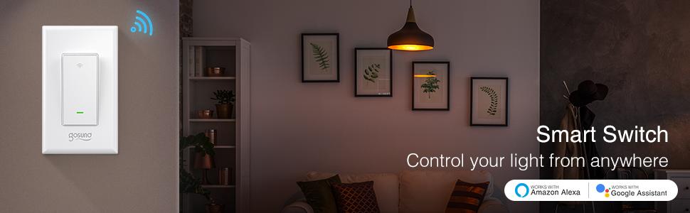 gosund smart wifi light switch works with alexa and google home