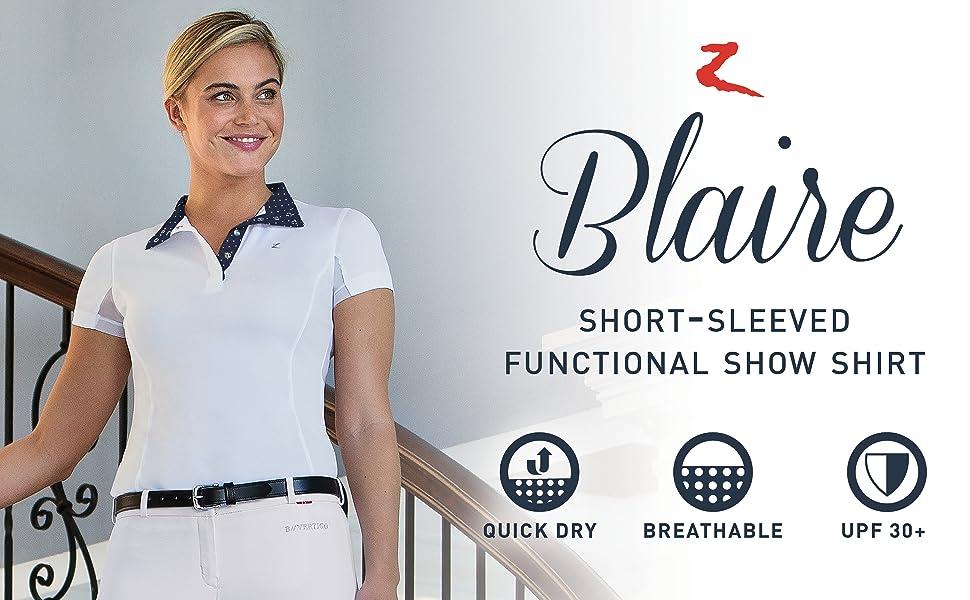 Horze women's Blaire functional short sleeved show shirt