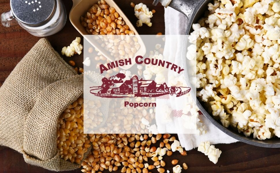 Amish Country Popcorn Old Fashioned Delicious Microwave Popcorn Kernels Toppings Seasoning
