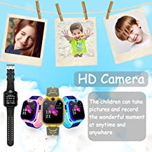 Kids Smart Watch with Phone Smartwatch SOS Game Touch Screen for Boys Girls Birthday Gift