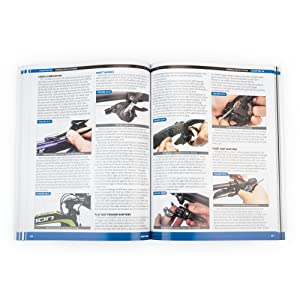 Park Tool BBB-4 Repair Manual open to a page on brake lever maintenance