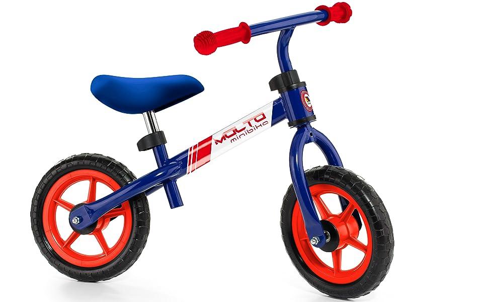 M MOLTO Bicicleta sin Pedales Infantil Minibike Azul: Amazon.es: Juguetes y juegos