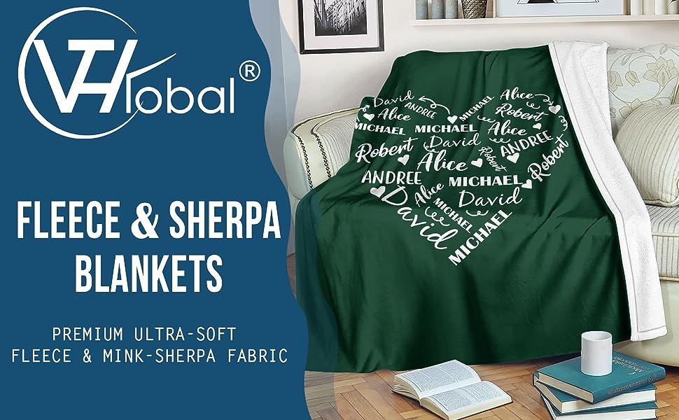 Fleece Sherpa Blanket VTH Global