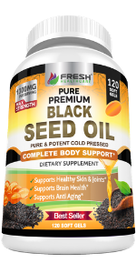 black seed oil pills capsules cold pressed immune support booster boost