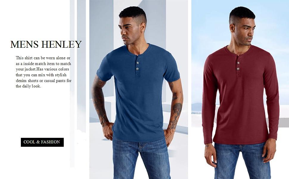 mens henley shirt