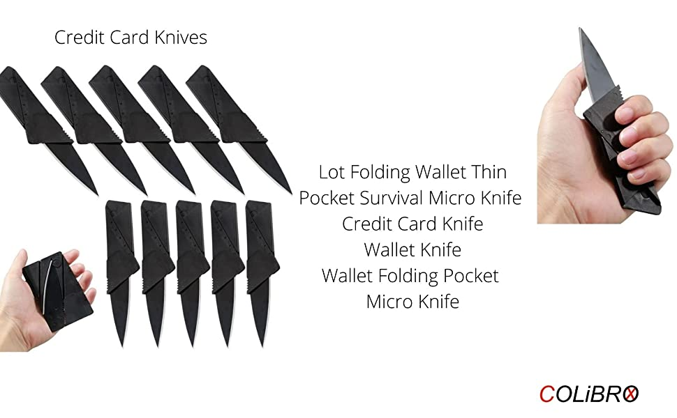 Credit Card Knifes 11 in 1 Multi tools 15 Lot wallet thin pocket survival micro