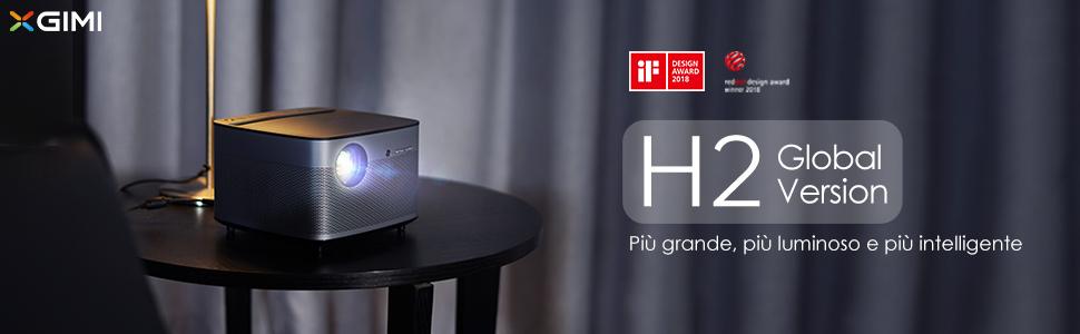 H2 Smart Vidéoprojecteur 1080P