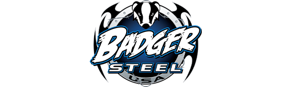 Badger Steel USA metal decor logo by a small family from German Wisconsin