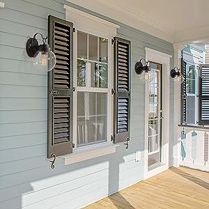 porch lights house exterior