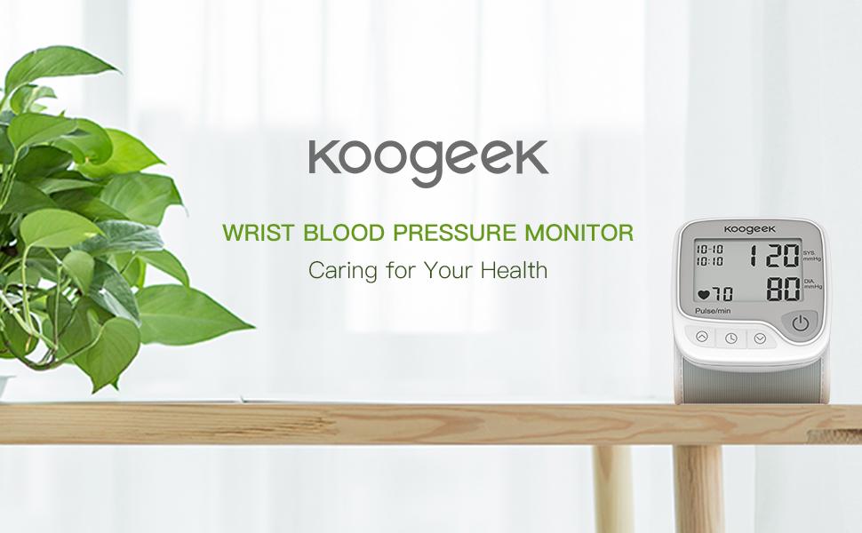 Tensiómetro de Muñeca Digital,Koogeek Monitor de Presión Arterial y Pulso de Frecuencia ,Bluetooth Medir la Frecuencia Cardíaca, Función de ...