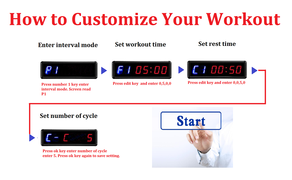 workout manual remote control gym timer