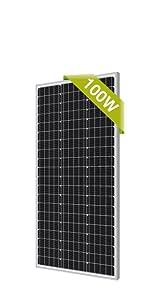 newpowa 100w solar panel mono