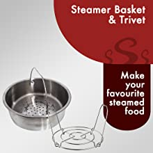 steamer basket trivet steaming cooking steam momos eggs easy use clean heat best electric cooker