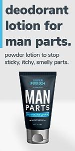 Super Fresh Ball Deodorant & Wash for Man Parts by SweatBlock for Men